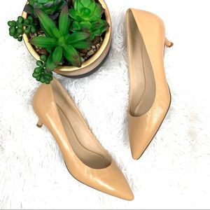 NWOT Nine West illumie Natural leather kitten heel